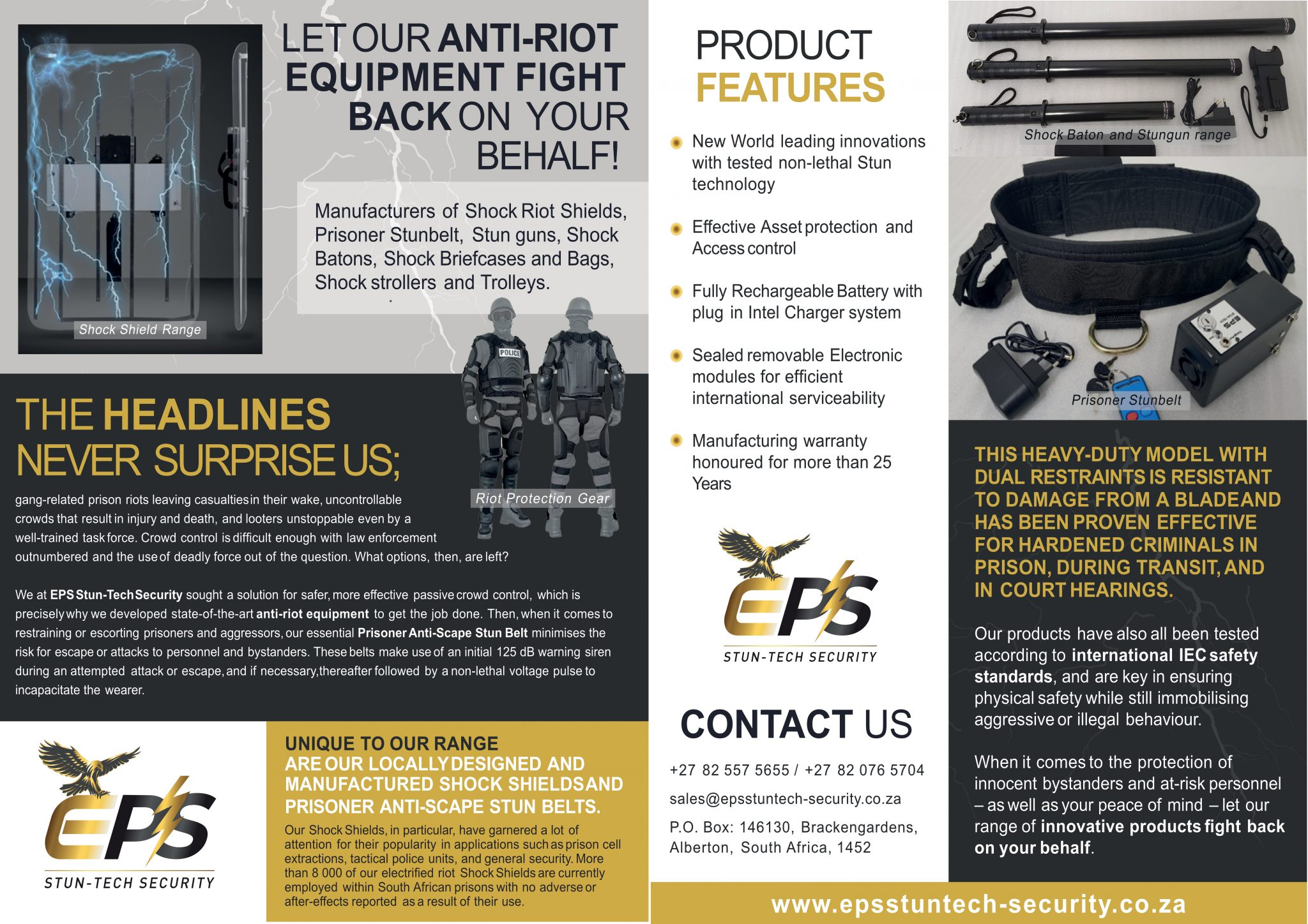 EPS Stun-Tech Security - Featured in Safety & Security Review Africa